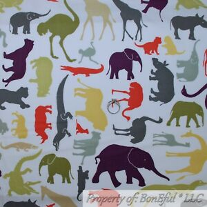 Girafe éléphant Paisley FQ Fat Quarter kids 100/% coton quilting