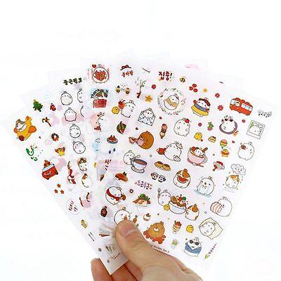 6pcs DIY Rabbit Cute Decorative Diary Sticker Album Label
