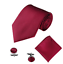 Men-039-s-Silky-Swirl-Jacquard-Woven-Striped-Tie-Pocket-Square-Cufflinks-Set-UK thumbnail 14