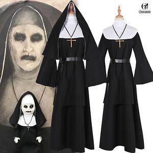 Halloween The Nun Valak Costume The Conjuring 2 Cosplay Fancy Dress ... ba275f5842