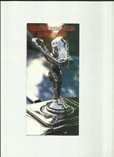ROLLS ROYCE  'SPECIAL FEATURES FACTS' SALES BROCHURE MID 80's