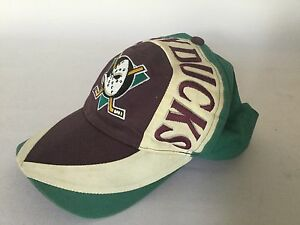new product 1bdc2 2bfc9 ... usa image is loading vintage 1990s anaheim mighty ducks snapback cap  nhl e04d0 591bf