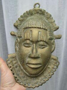 Collectibles Vintage Antique African Art Bronze Casting Benin Mask Ebay