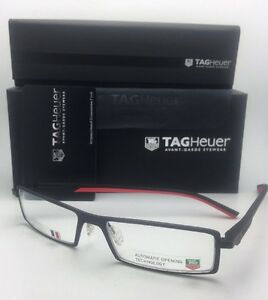 3f09a69091a6f New TAG HEUER Eyeglasses TH 0803 012 54-16 142 Matte Black-Red ...