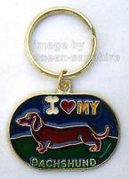 I Love My Dachshund Dog Key Ring Key Ring Keychain Key Chain Doxie