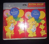 Care Bears Birthday Party Invitations & Thank You Cards 1991 Vintage