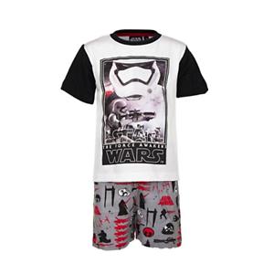 DISNEY-pyjama-pyjashort-pyjacourt-STAR-WARS-4-6-8-ou-10-ans-gris-rouge-noir-NEUF