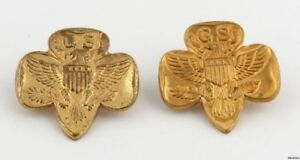 Girl-Scouts-of-America-Vintage-GSA-Member-Pins-Collectible-Eagle-Crest