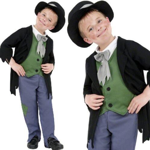 Boys Artful Dodger Poor Victorian Urchin Pickpocket Fancy Dress Costume Outfit