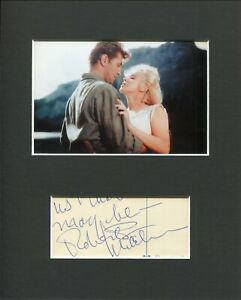 Robert Mitchum River Of No Return Signed Autograph Photo Display Marilyn Monroe