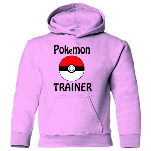POKEMON TRAINER Pokemon Go Powerball Kids Gildan printed hoodie hoody sweatshirt
