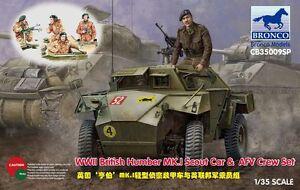 Bronco-1-35-35009SP-Humber-MK-I-Scout-Car-amp-AFV-Crew-Set