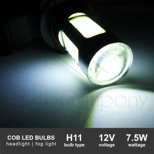 Yellow For 2014-2017 Ford Fiesta Light Kit w//Wiring Kit /& COB LED Bulbs