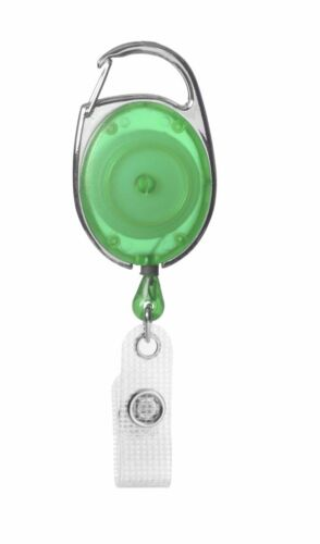 10 x Ausweisjojo Kartenhalter Schlüsselrolle mit Karabinerhaken und Vinylstrap