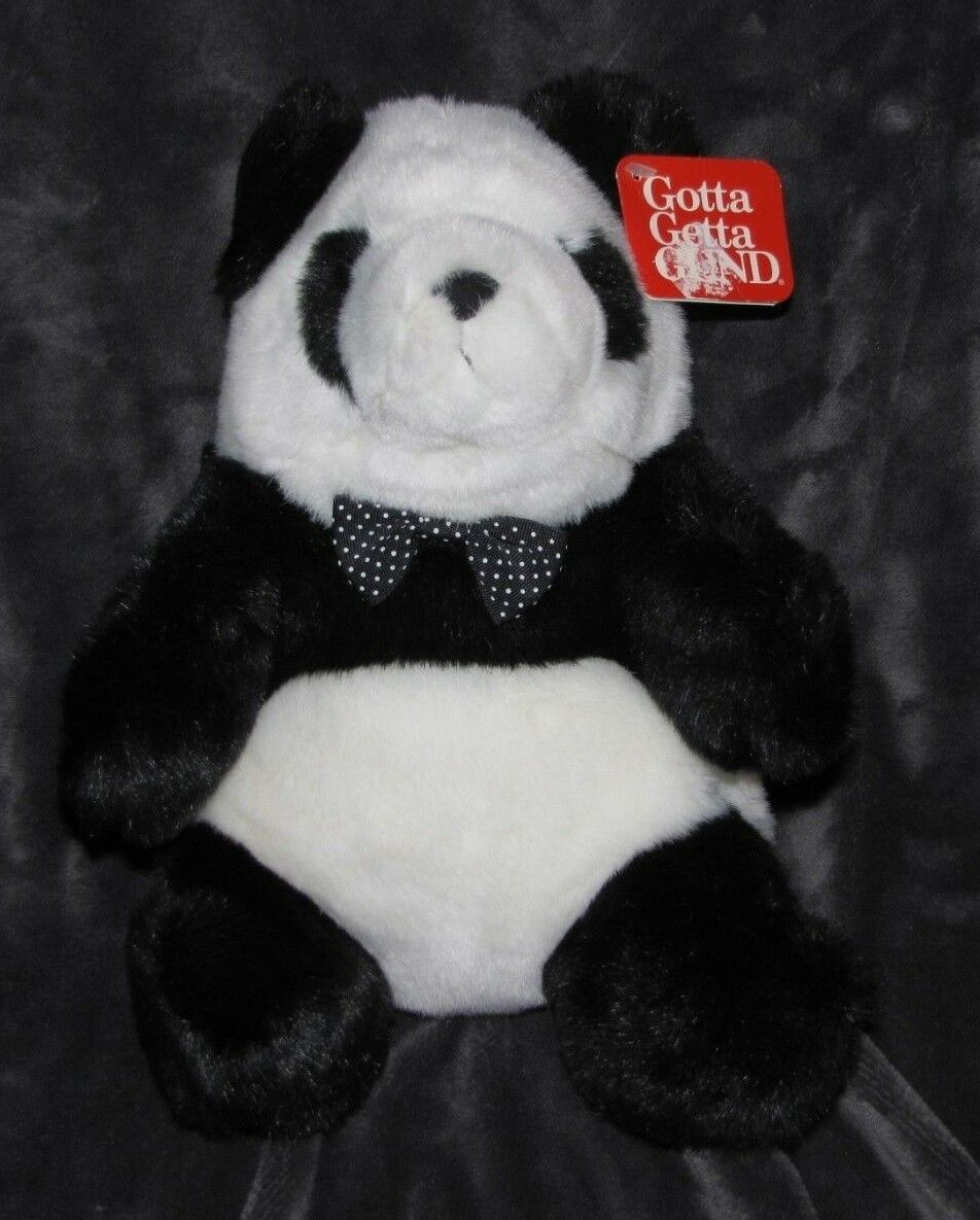 GUND 1993 DOMINO PANDA TEDDY BEAR STUFFED PLUSH ANIMAL MADE MADE IN MEXICO   2312 NEW