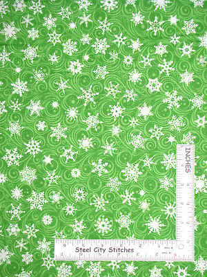"""1 BOLT 45/"""" PATRICK LOSE CHRISTMAS CHEER SPRIGS AND BERRIES GREEN FABRIC 15 YARDS"""