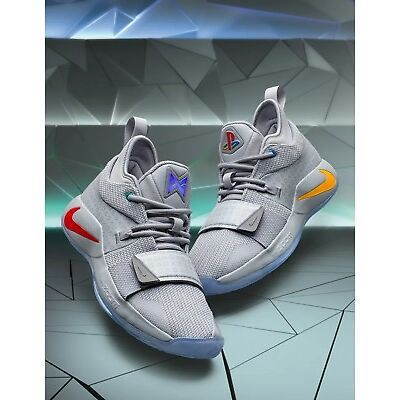 sports shoes f985d eb69b Details about PlayStation x Nike PG 2.5 BQ8388-001 Wolf Grey Multi-Color  Men s and GS Sizes