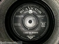 "VINYL 7"" SINGLE - I LOVE YOU BECAUSE - JIM REEVES - 1385"