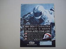 advertising Pubblicità 1992 CASCO ARAI e LUCA CADALORA