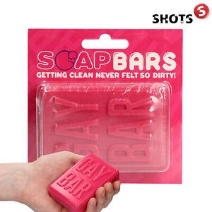 Shots GAY BAR SOAP Gift Sapone Saponetta Forma Mano Regali Giochi Divertenti