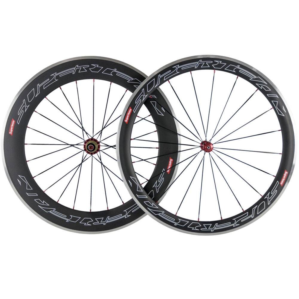 Carbon Wheelset 50mm 80mm F&R Carbon Road  Bike Wheels Aluminum Brake Surface  wholesale cheap and high quality
