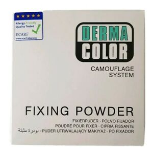DERMA-colore-camouflage-sistema-di-fissaggio-Traslucido-Polvere-Beige-chiaro-60g