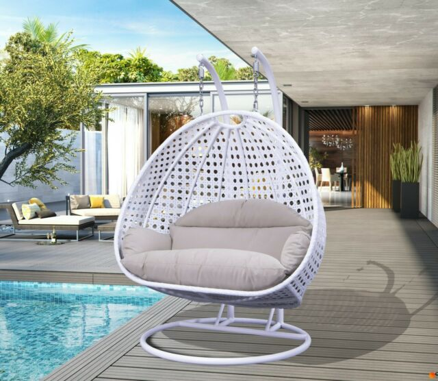 Wicker Hanging Swing Chair With Cushion