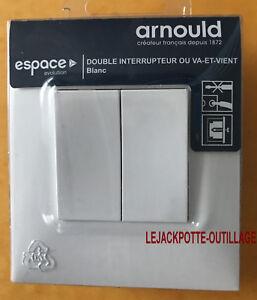 Bouton poussoir blanc Espace Evolution Arnould