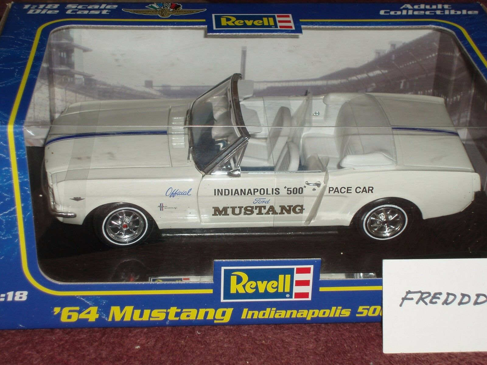 REVELL 1964 1 1 1 2 FORD MUSTANG CONgreenIBLE 1 18 INDY PACE CAR 6127ac