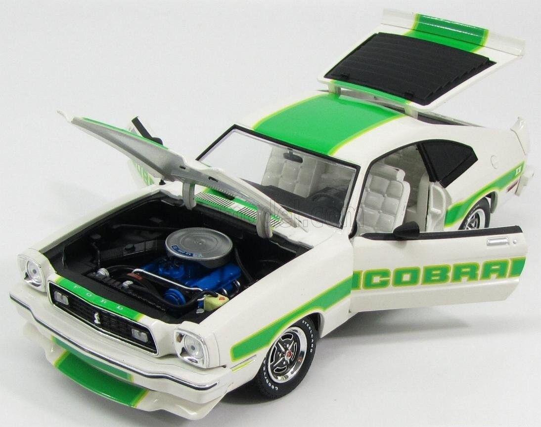 los clientes primero FORD MUSTANG II COBRA blanco blanco blanco verde STRIPES 1976 verdeLIGHT 12895 1 18 WEISS blanco  precio razonable
