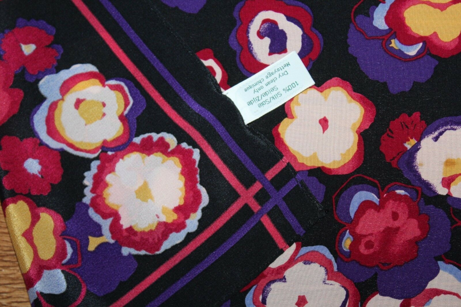 Estate - Vintage 80s 90s Laura Ashley Abstract Fl… - image 3