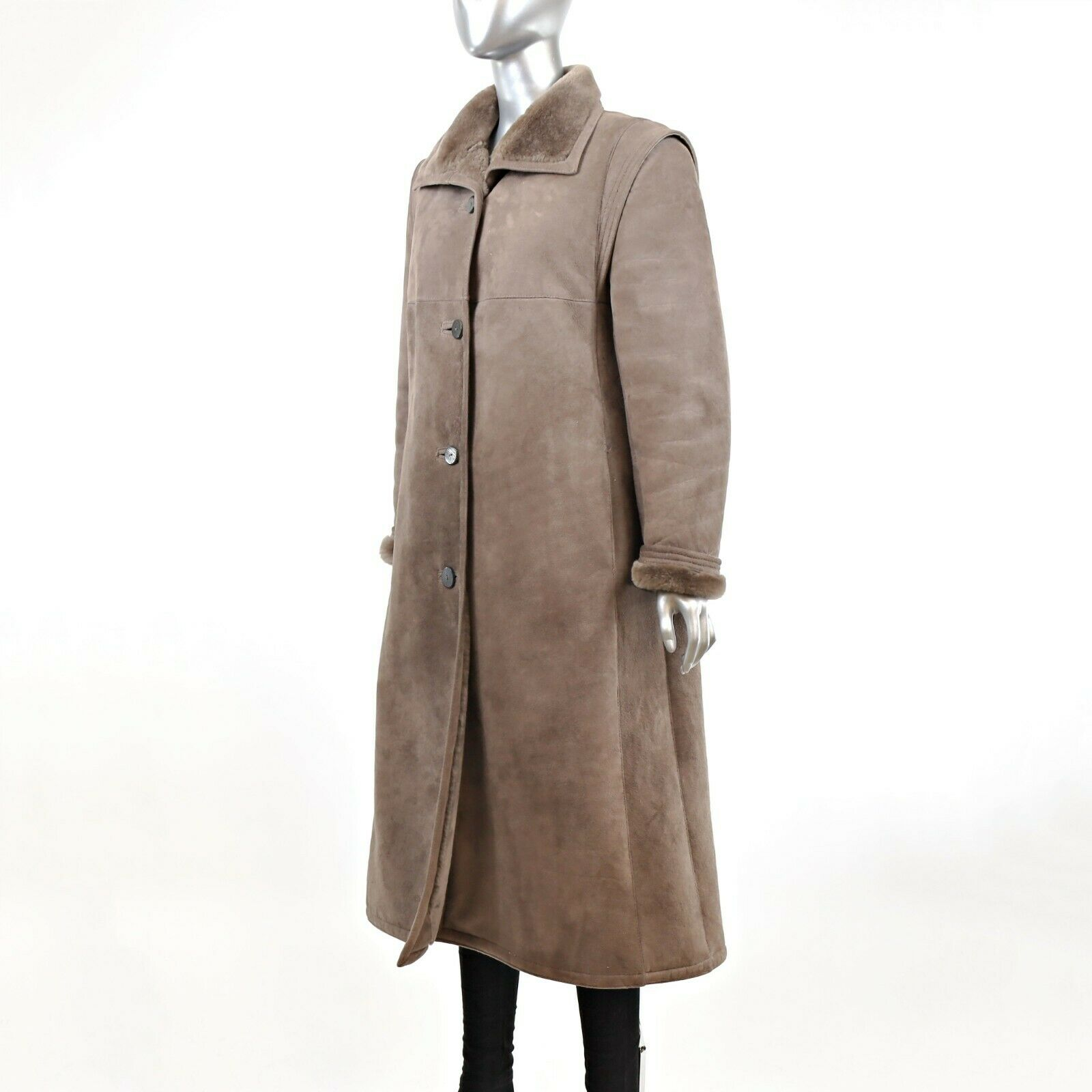 Full Length Shearling Coat- Size M-L (Vintage Fur… - image 2