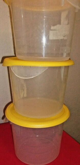 Round Storage Containers, 6 qt, 10dia x 7 5/8h, Clear for ...