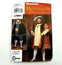 Simplicity 9650 Renaissance Tudor Costume Pattern King Henry VIII Uncut S M L