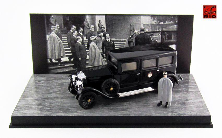 Fiat 519 S Limousine Roi d'Italie Victor Emmanuel III  figurine 1929 1 43 Rio