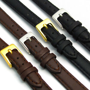 Ladies Soft Genuine Leather watch Strap Band Choice of colours D001 FREE UK Post