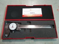 Starrett 120a-6 Dial Caliper W case 6 In 150mm White Tools and Accessories