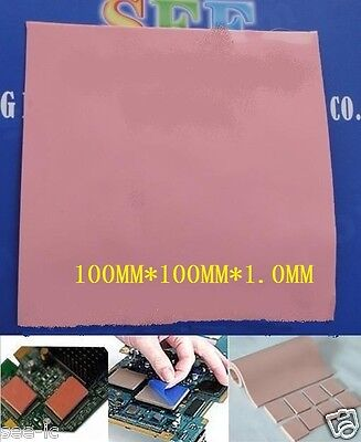Thermal Pad 100×100×1.0 High Conductivity Heatsink Compound Pad Red/Pink