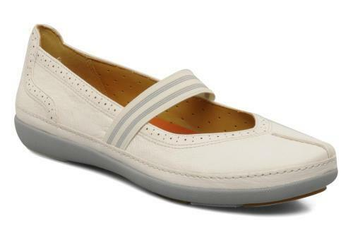 New Clarks Unstructurouge Un Bethany blanc Leather Slip On chaussures 6.5