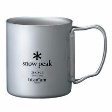 Snow Peak Titanium Double Mug 300 Folding Handle MG 052fhr From Japan