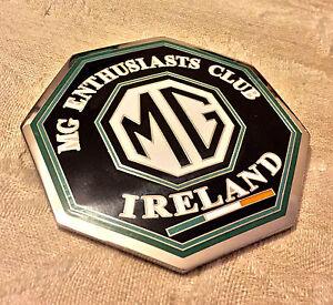 MG-CLUB-IRELAND-CAR-GRILLE-BADGE-VINTAGE-MGB-MGA-MGC-MGF-MGB-GT-MGTD-MGTF