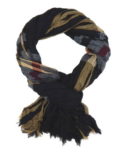 Herrenschal schwarz grau rot beige by Ella Jonte breiter weicher Schal Viskose