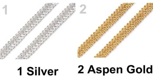 13.5m Metallic Gimp Braid Trim Tinsel Or Trims Braids And Haberdashery