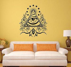 Wall-Vinyl-Sticker-Decal-Masons-Pyramid-Eye-Of-Providence-Art-Room-ig3082