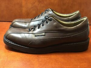 Mephisto-Men-039-s-10-5-M-Leather-Bicycle-Toe-Derby-Oxfords-Shoes-Brown-Reg-434
