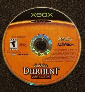 Cabela's Deer Hunt: 2004 Season (Microsoft Xbox, 2003) DISC ONLY