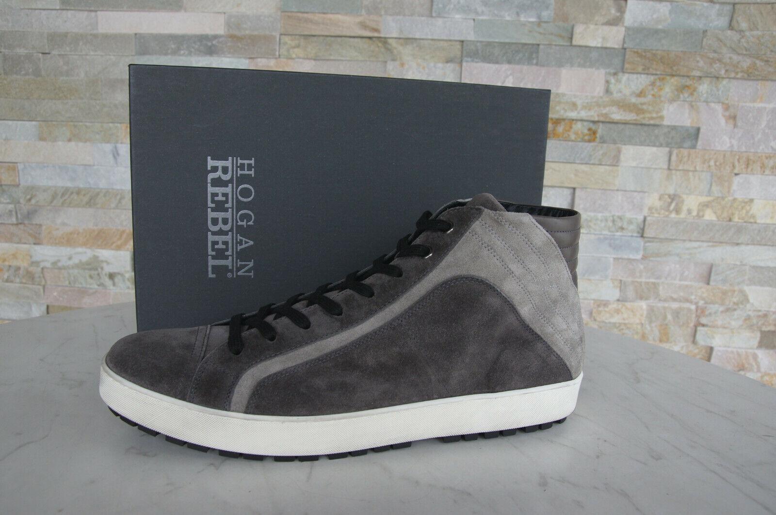 Hogan Rebel 44,5 10,5 Zapatillas de Deporte Zapatos Cordón Nuevo PLOMO Ehemuvp