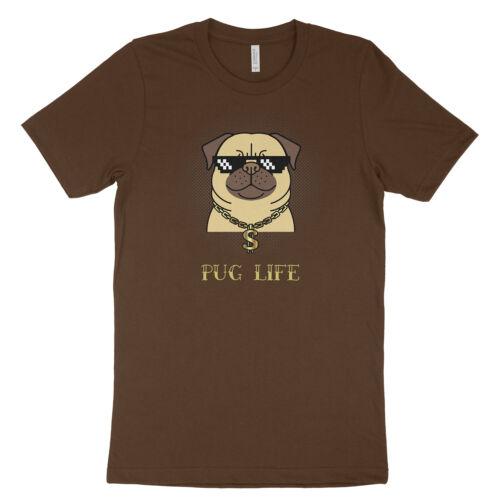 Pug Life Gangsta Funny Punny Thug Gangster Cute Dog Puppy Shirt Unisex T-Shirt