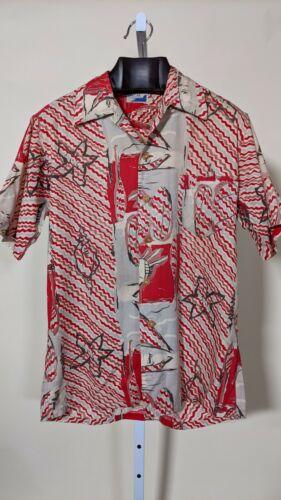 Linn's Hawaiian Sportswear Vintage 40s 50s Aloha S