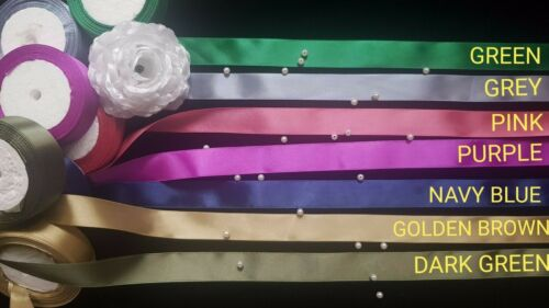 3 yards and 5 yards Satin Ribbon Cut To Desired Length 25mm